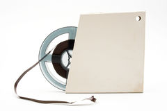 Bandspule des Magnetbands für Tonaufzeichnungen Lizenzfreies Stockbild