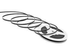 Bandspule getrennt auf Weiß Lizenzfreies Stockbild