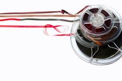 Bandspulen des Magnetbands für Tonaufzeichnungen Lizenzfreies Stockfoto