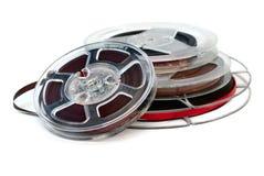 Bandspulen des Magnetbands für Tonaufzeichnungen Retro Stockbild