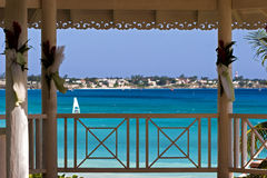 Bandstand. The gazebo where weddings are performed in Barbados Stock Images