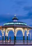 Bandstand. Illuminated bandstand at dusk Brighton England UK Royalty Free Stock Photos