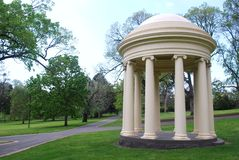 Bandstand. Constructed in 1864 used for musical performances and weddings located in Fitzroy Gardens, in Melbourne, Australia Stock Photography