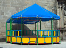 Bandstand. A typical colorful Portuguese festival bandstand Royalty Free Stock Photography