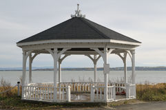 Bandstand. An empty bandstand in front of St. Lawrence River Royalty Free Stock Photo