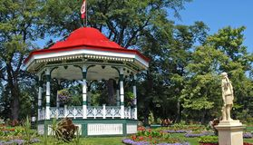 Bandstand. An ornate bandstand with a red roof in the gardens and public park in Halifax, Nova Scotia, Canada Stock Images