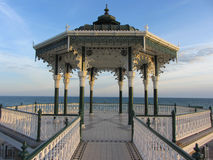 The Bandstand, Brighton, England,UK. Architectural feature on seafront Royalty Free Stock Photos