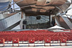 Bandstand Chairs in Millennium Park Stock Photos
