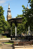 Bandstand and clock tower Southport floral town Merseyside. Stock Image
