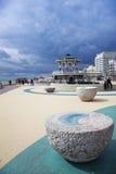 Bandstand da frente marítima da praia de Brigghton fotos de stock royalty free