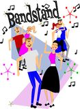 Bandstand dancers Royalty Free Stock Photography