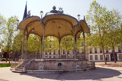 Bandstand in dijon city. An ancient bandstand in dijon city Stock Photo