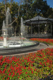 The bandstand and fountain in Gorsad, Odessa Royalty Free Stock Photography