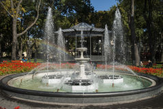 The bandstand and fountain in Gorsad, Odessa Royalty Free Stock Photos