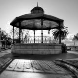 Bandstand in the gardens. Bandstand in the Pereda gardens (Santander, Spain stock photography
