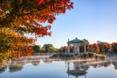 Forest Park bandstand in St. Louis, Missouri. The bandstand located in Forest Park, St. Louis, Missouri royalty free stock photo