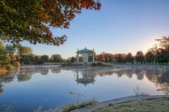 Forest Park bandstand in St. Louis, Missouri. The bandstand located in Forest Park, St. Louis, Missouri royalty free stock photography