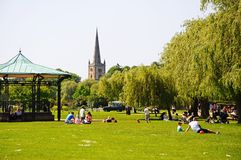 Bandstand in park, Stratford-upon-Avon. Stock Photography