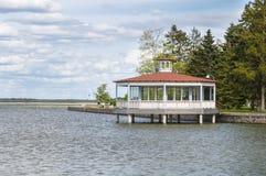 A bandstand pavilion at Haapsalu town seaside promenade Royalty Free Stock Photos
