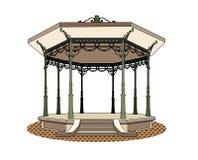 Bandstand romantic. Vector illustration of a music kiosk, EPS 8 file Stock Illustration