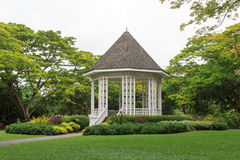 Bandstand in Singapore Botanic Gardens. Singapore Botanic Gardens is a tropical garden honored as a UNESCO World Heritage Site Stock Photo
