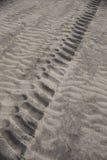 Bandtekens in het Zand op Wasaga-Strand, Ontario Royalty-vrije Stock Afbeelding
