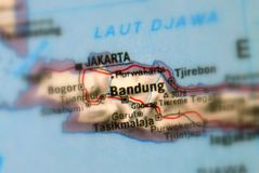 Bandung, a city in Indonesia. Bandung, a city in the Republic of Indonesia selective focus royalty free stock photography