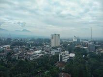 Bandung cityscape Arkivbild