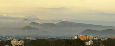 Bandung cityscape arkivfoto