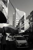 Bandung Cityscape från det Jalan abc:et arkivbilder