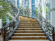 Beautiful stairway located in Bandung, Indonesia. BANDUNG, INDONESIA – NOVEMBER 19, 2018 : Beautiful stairway located in Bandung, Indonesia stock photo