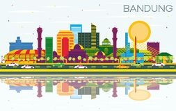 Free Bandung Indonesia City Skyline With Color Buildings, Blue Sky And Reflections Stock Photography - 188821522
