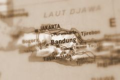 Bandung, inIndonesia miasto zdjęcia royalty free
