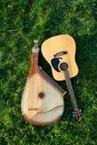 Bandura con la guitarra fotografía de archivo libre de regalías