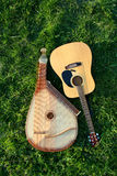 Bandura with guitar Royalty Free Stock Photography