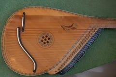 Bandura zakończenie up, Ukraiński instrument muzyczny Ukraiński ludowy instrument muzyczny - Bandura, dekorujący z pięknymi wzora Fotografia Stock