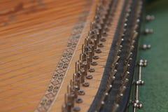 Bandura zakończenie up, Ukraiński instrument muzyczny Ukraiński ludowy instrument muzyczny - Bandura, dekorujący z pięknymi wzora Zdjęcia Royalty Free