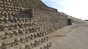 Bandurria金字塔在利马北部的沙漠 库存图片