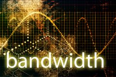 Bandwidth. Abstract Technology Business Concept Wallpaper Background royalty free illustration