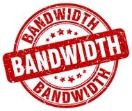bandwidth czerwieni znaczek ilustracji