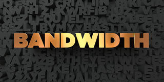 Bandwidth - Gold text on black background - 3D rendered royalty free stock picture Royalty Free Stock Photos