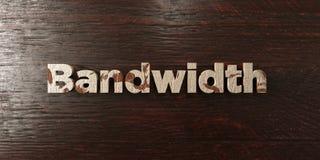 Bandwidth - grungy drewniany nagłówek na klonie - 3D odpłacający się królewskość bezpłatny akcyjny wizerunek ilustracji
