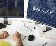 Bandwidth Internet Online Connection Technology Concept Royalty Free Stock Image