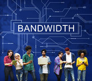 Bandwidth Internet Online Connection Technology Concept Stock Images