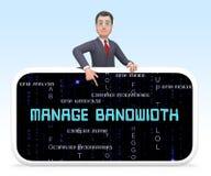 Bandwidth komunikaci Lub zarządzania występu 3d rendering royalty ilustracja