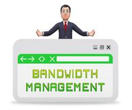 Bandwidth komunikaci Lub zarządzania występu 3d rendering ilustracja wektor