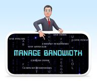 Bandwidth Management Or Communication Performance 3d Rendering. Shows Managed Traffic Solution For Improved Connectivity royalty free illustration