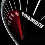 Bandwidth szybkościomierza ograniczonych zasobów ruchu drogowego komunikacja ilustracja wektor