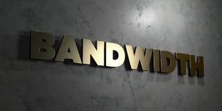 Bandwidth - Złocisty tekst na czarnym tle - 3D odpłacający się królewskość bezpłatny akcyjny obrazek royalty ilustracja