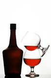Bandy bottle and glasses Stock Photo